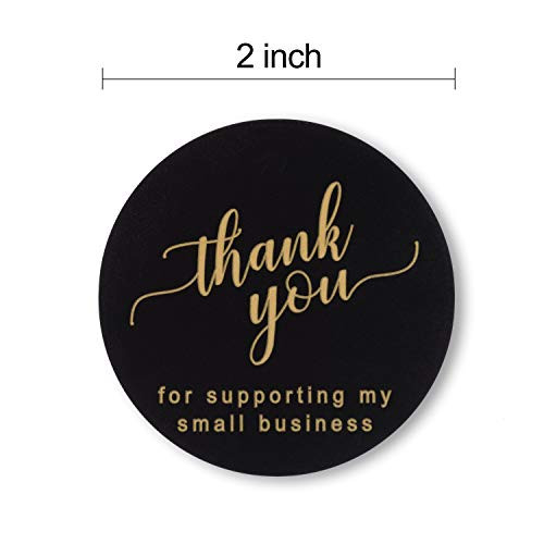 2quot Thank You for Supporting My Small Business Stickers, 4