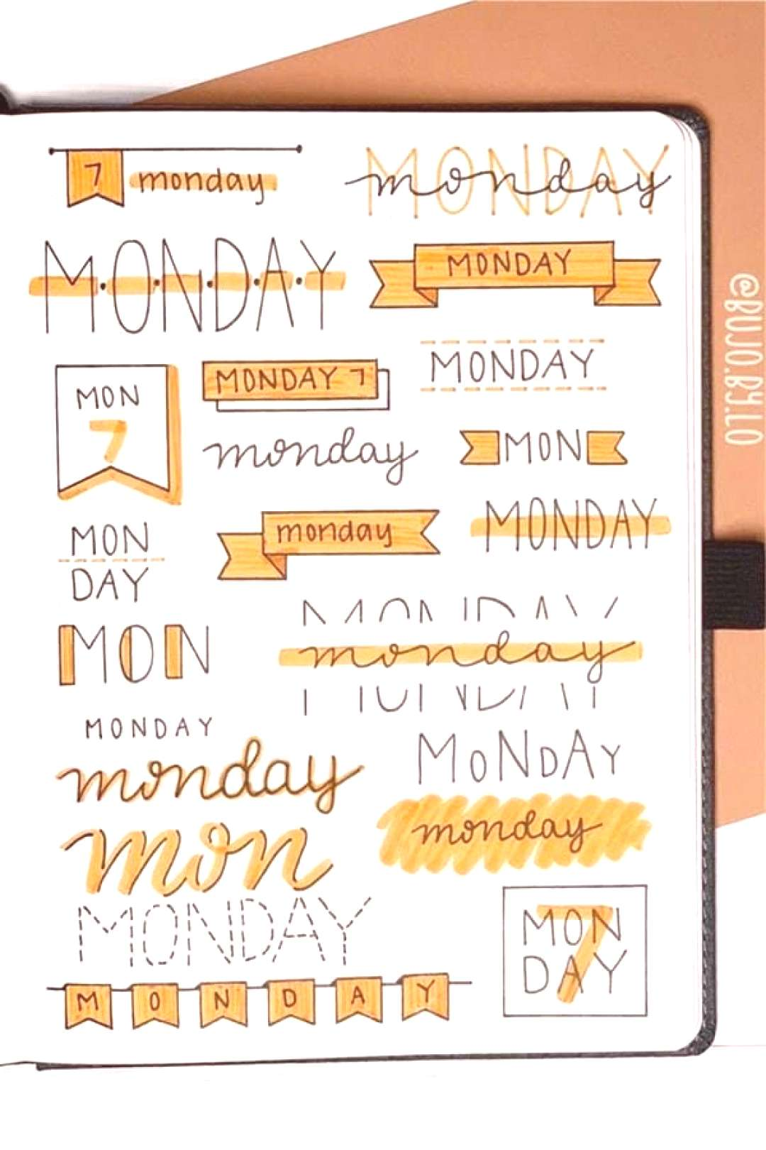 25+ best all ORANGE themed bullet journal layouts and trackers for inspiration to change up your th