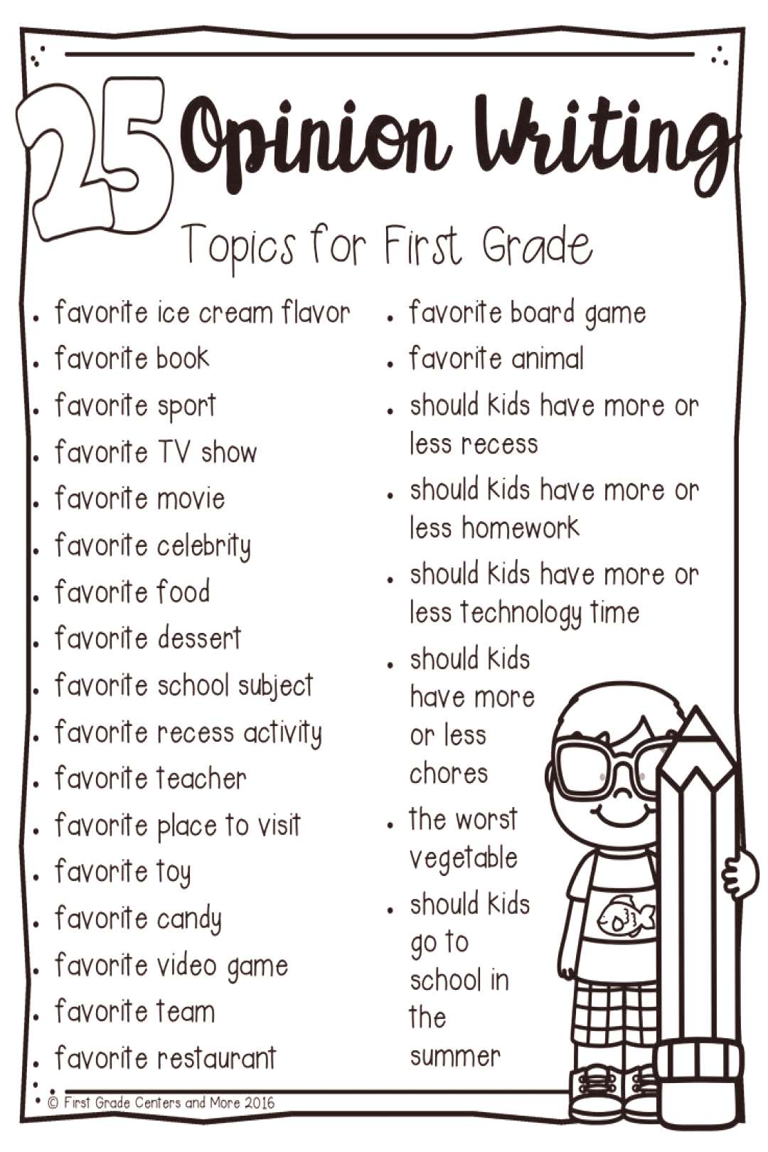 25 opinion writing topics for first grade.pdf - Google Drive