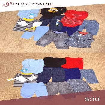 Baby Boys 0-3 Months Clothing Lot This lot includes &; 5 Pants &; 3 Long Sleeve Onesies &; 2 Long S