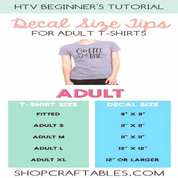 Beginner's Tutorial: Decal Size Tips for T-Shirts, Totes and Onesies - -