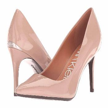Calvin Klein Gayle Pump (Tobacco Patent) High Heels. Please note: Upper material will be listed in