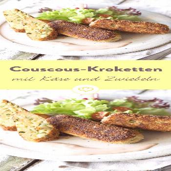 Couscous croquettes with cheese and onions -  These croquettes are quickly fried in the pan until c