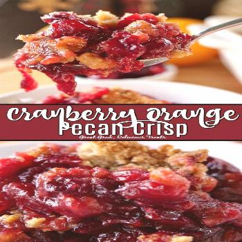 Cranberry Orange Pecan Crisp is the perfect holiday dessert and with each bite, the crunchiness of