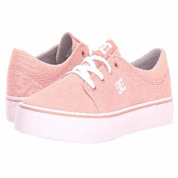 DC Kids Trase (Little Kid/Big Kid) (Peach Parfait) Girls Shoes. Take signature skate style back to
