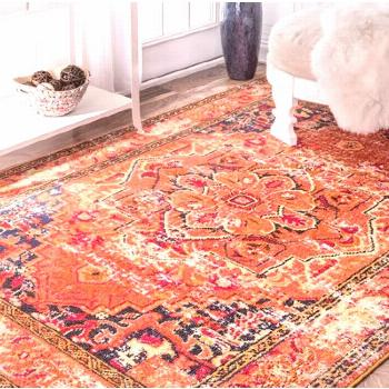 English country decor  orange area rug, area rugs in living room dos and donts, area rug over carpe