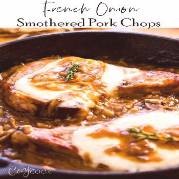 French Onion Smothered Pork Chops Lightly Seasoned Pork Chops are seared to perfection, topped with