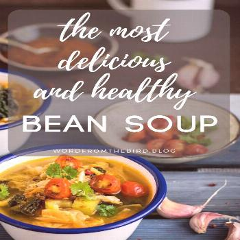 healthy bean and chicken rustic soup recipe. Warm your soul with my healthy recipe, great for a coz