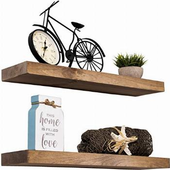 Imperative Décor Floating Shelves Rustic Wood Wall Shelf