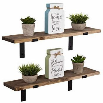 Imperative Décor Rustic Wood Floating Shelves Wall Mounted