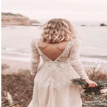 Lisa - Cotton Lace with Open Back Bohemian Wedding Dress