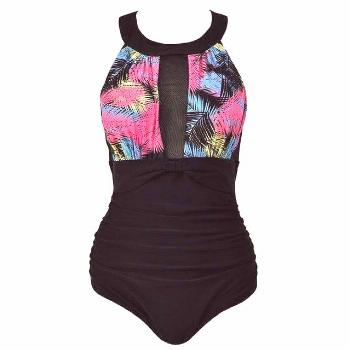 Magical One-Piece Slimming Swimsuit, Colorful / 4XL