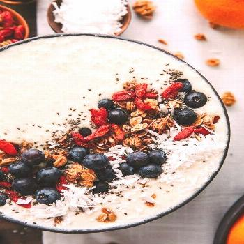 Most current Cost-Free Tropical Smoothie Bowl With Orange, Mango, And Banana – The Blonde Chef  I