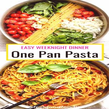 One pan pasta is an easy family friendly meal you can whip up quickly on weeknights. It's a no-fuss