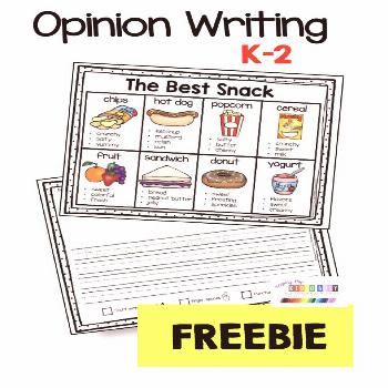 Opinion Writing - Unit 5 - FREE ACTIVITY — Keeping My Kiddo Busy FREE Opinion writing activity fo