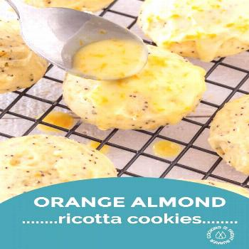 Orange Almond Ricotta Cookies with video A super fluffy and light cookie bursting with spring flavo