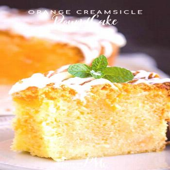 Orange Creamsicle Pound Cake has a bright citrus flavor and a cream soda glaze that you can't stop