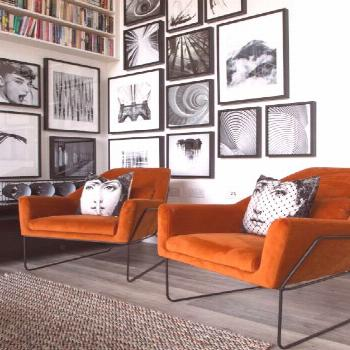Orange Living Room Ideas -  Ever wondered what single colour would liven up the entire downstairs o