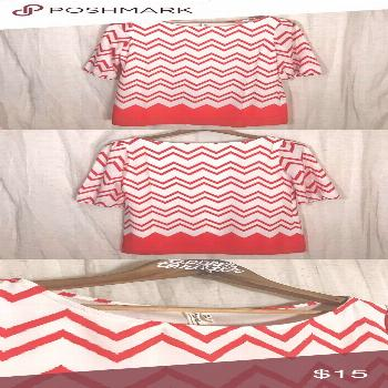 """Pink Owl Chevron Dress Color is a """"Texas"""" burnt orange. Worn only once, grea... Pink Owl Chevro"""