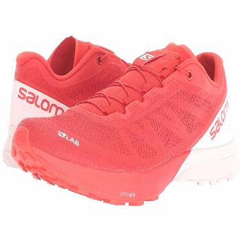 Salomon S/Lab Sense 7 (Racing Red/White/White) Athletic Shoes. Push your speed and agility to the n