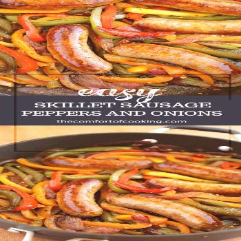 Skillet Italian Sausage, Peppers and Onions -  Skillet Italian Sausage, Peppers and Onions  -