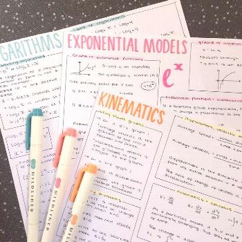 Study notes in blue, pink and orange ★ · · · · · · · · Follow @ motivation2study for ...