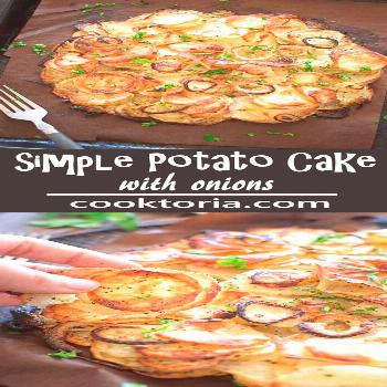 This Simple Potato Cake with Onions makes a perfect and filling lunch. Made with just 4 ingredients