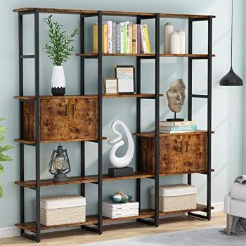 Tribesigns 71'' Triple Wide Bookcase, 5 Tier Bookshelf with