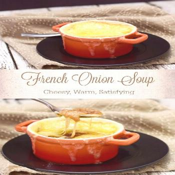 Warm up with a bowl of French Onions Soup! Simmere... Warm up with a bowl of French Onions Soup! Si