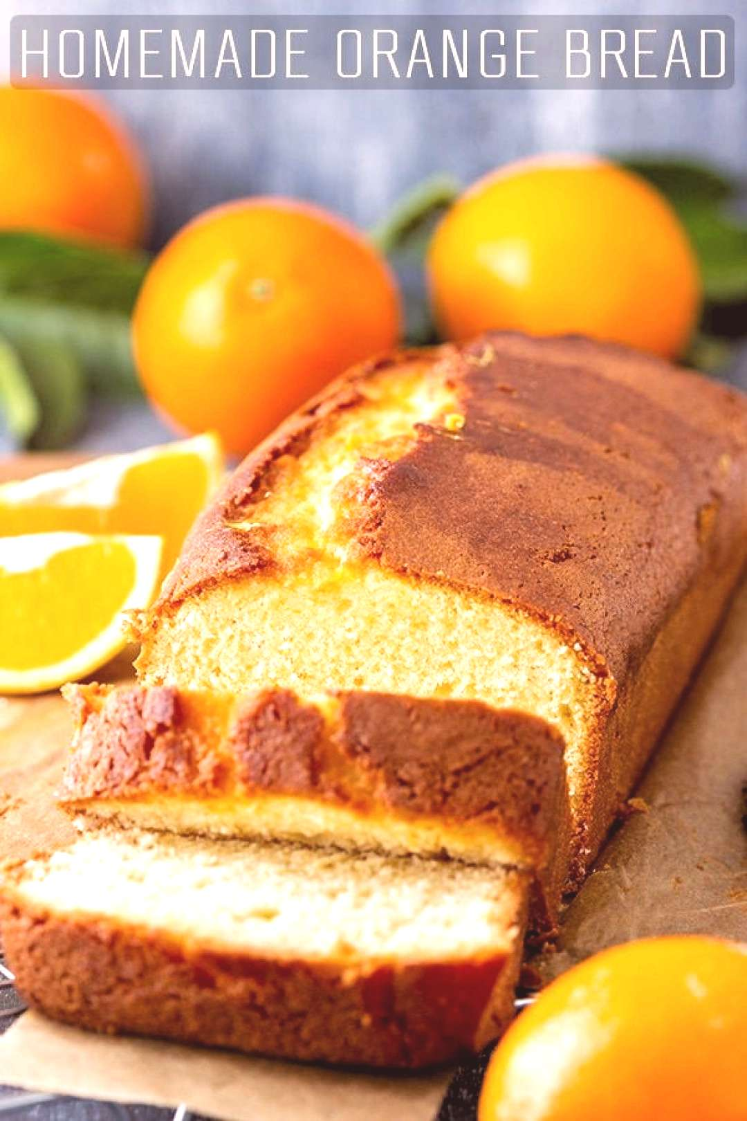 A slice of homemade orange bread is the perfect treat for breakfast or coffee break. Delicious on i