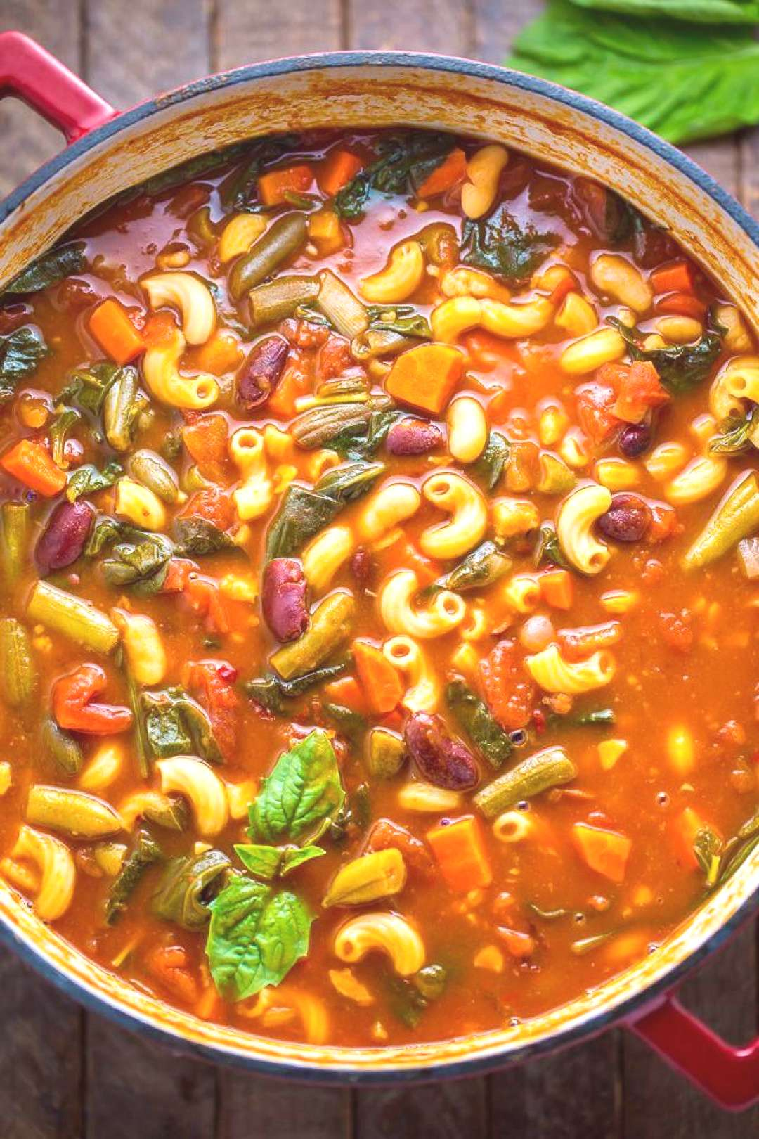 An Italian Soup Of Vitamins Consisting Of Pumpkin, Spinach, Onions, Carrots, Rice, Potatoes And Bak