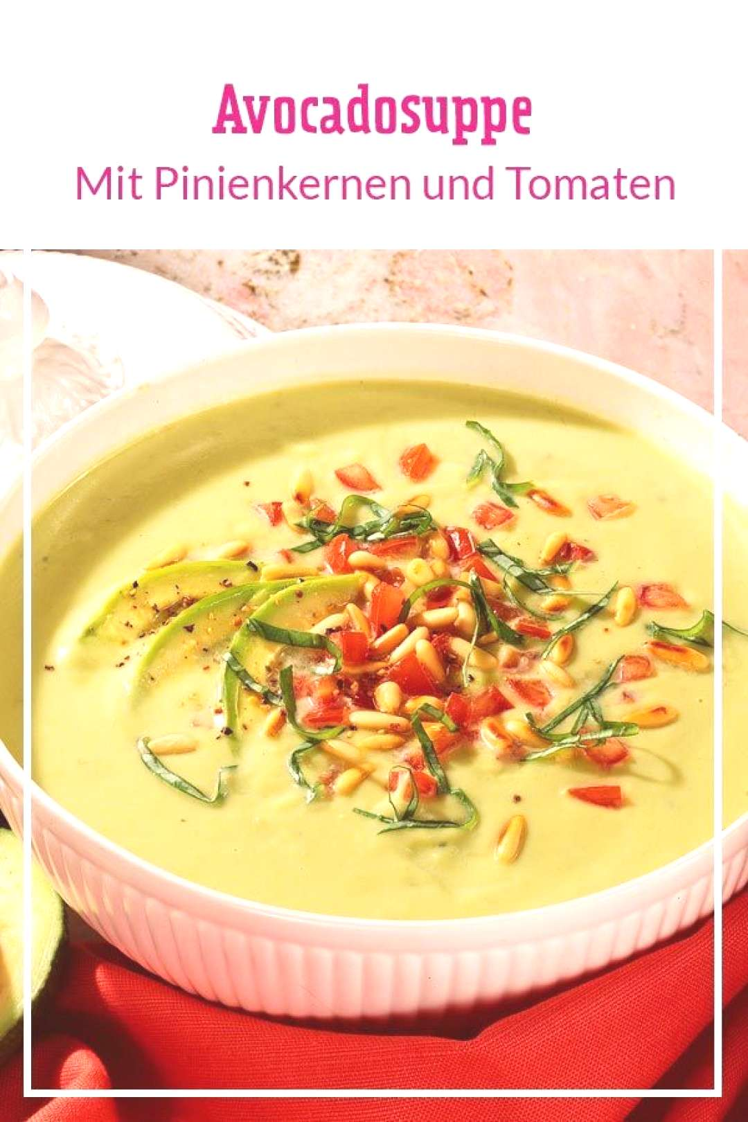 avocado soup- You have never eaten soup so creamy! Out and we conjure up a creamy after-work soup i