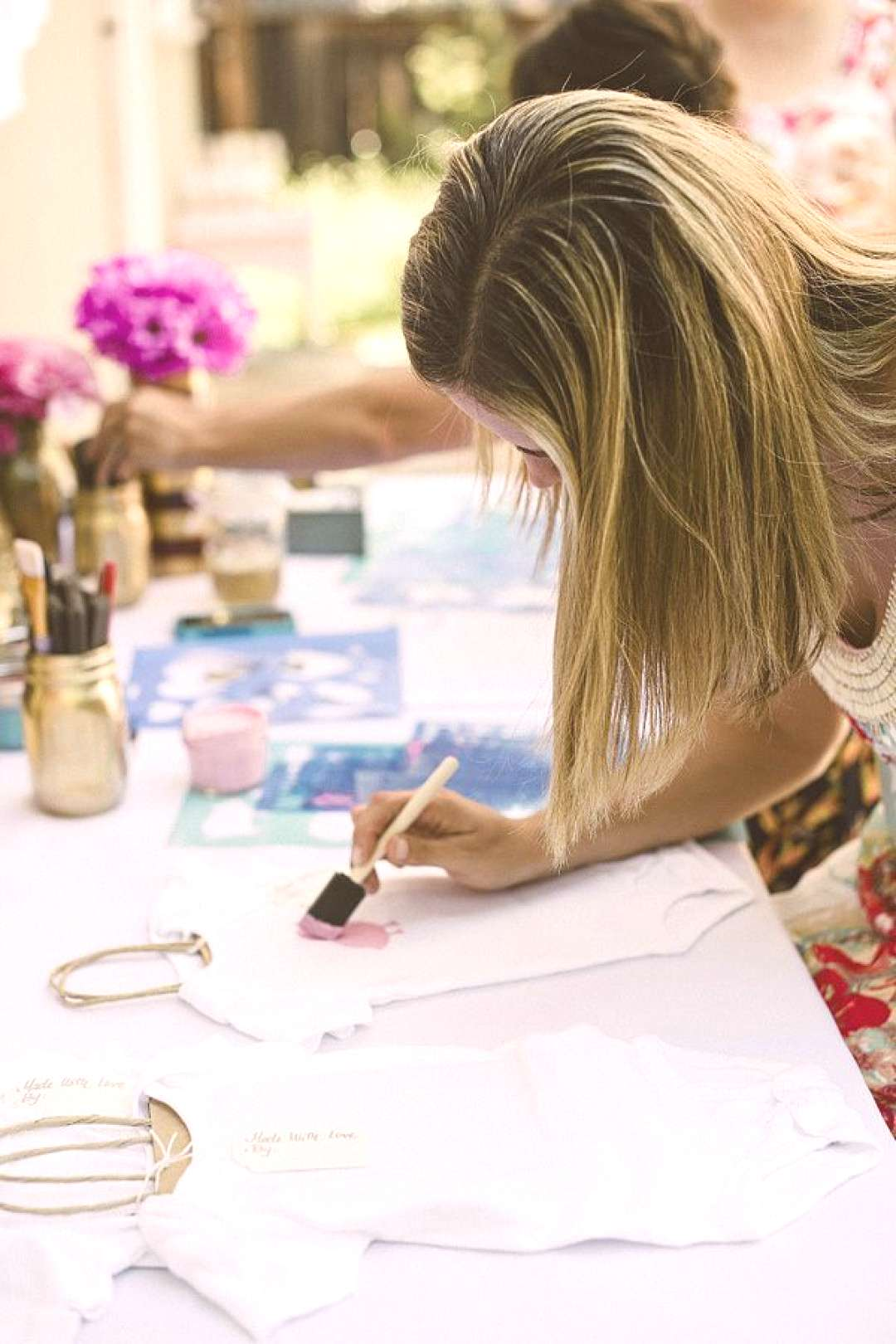 Baby Shower Crafts, Decorate Onesies for Mom-To-Be -  -