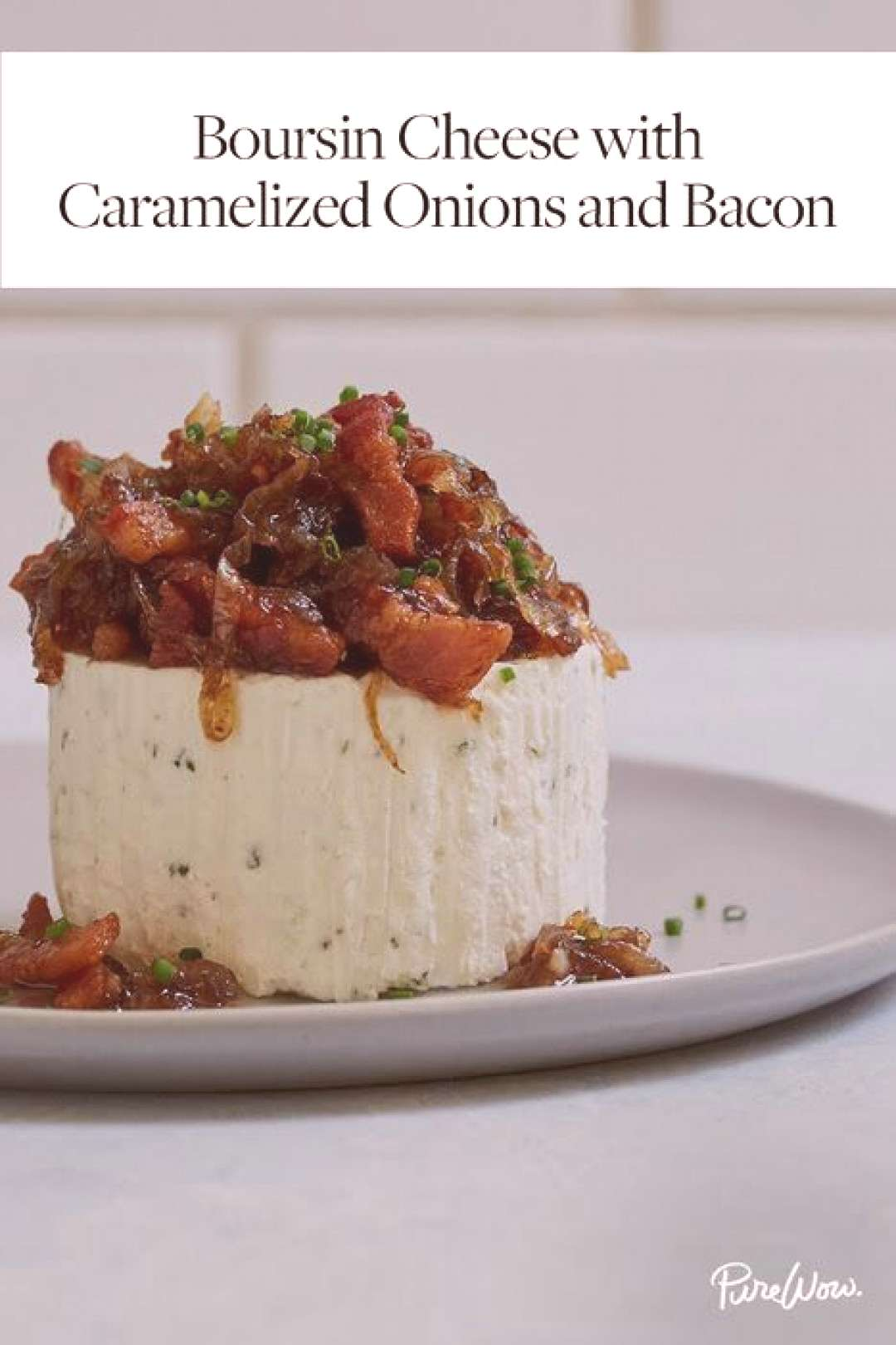Boursin Cheese with Caramelized Onions and Bacon -