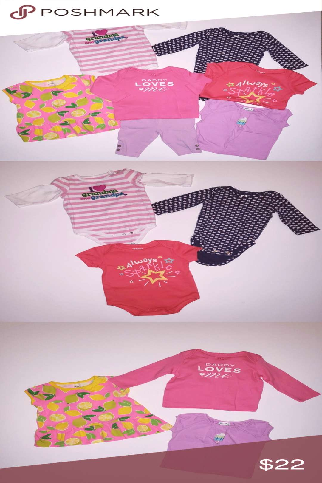 BUNDLE OF BABY CLOTHES! GIRLS Exactly as shown in pics Excellent gently used condition 2 onesies aamp