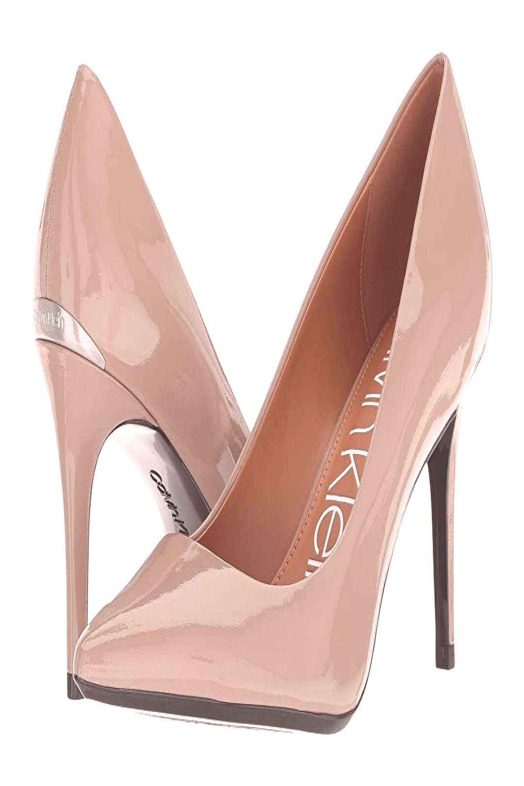 Calvin Klein Gayle Pump (Tobacco Patent) High Heels. Please note Upper material will be listed in
