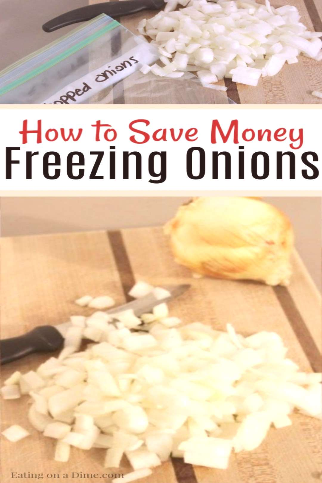 Can you freeze chopped onions? Yes! Freezing onions will save you so much time in the kitchen. T