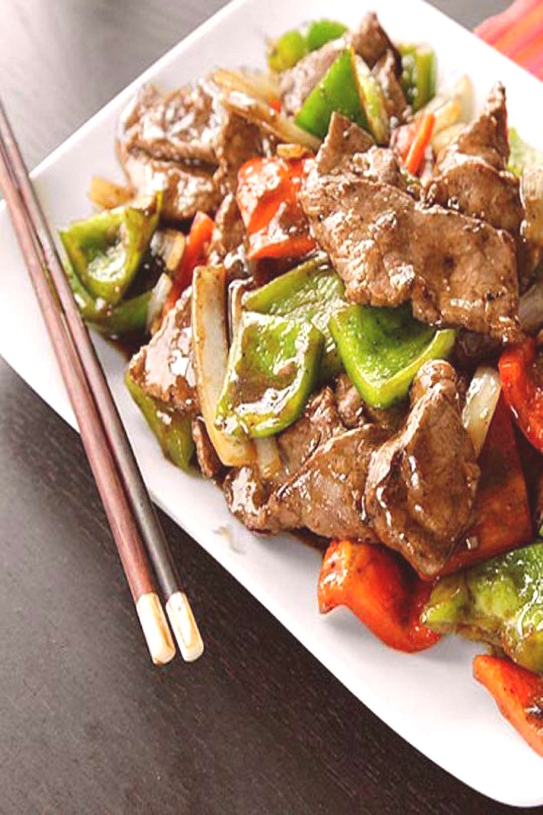 Chinese Pepper Steak (Stir-Fried Beef with Onions, Peppers, and Black Pepper Sauce) Recipe -  -