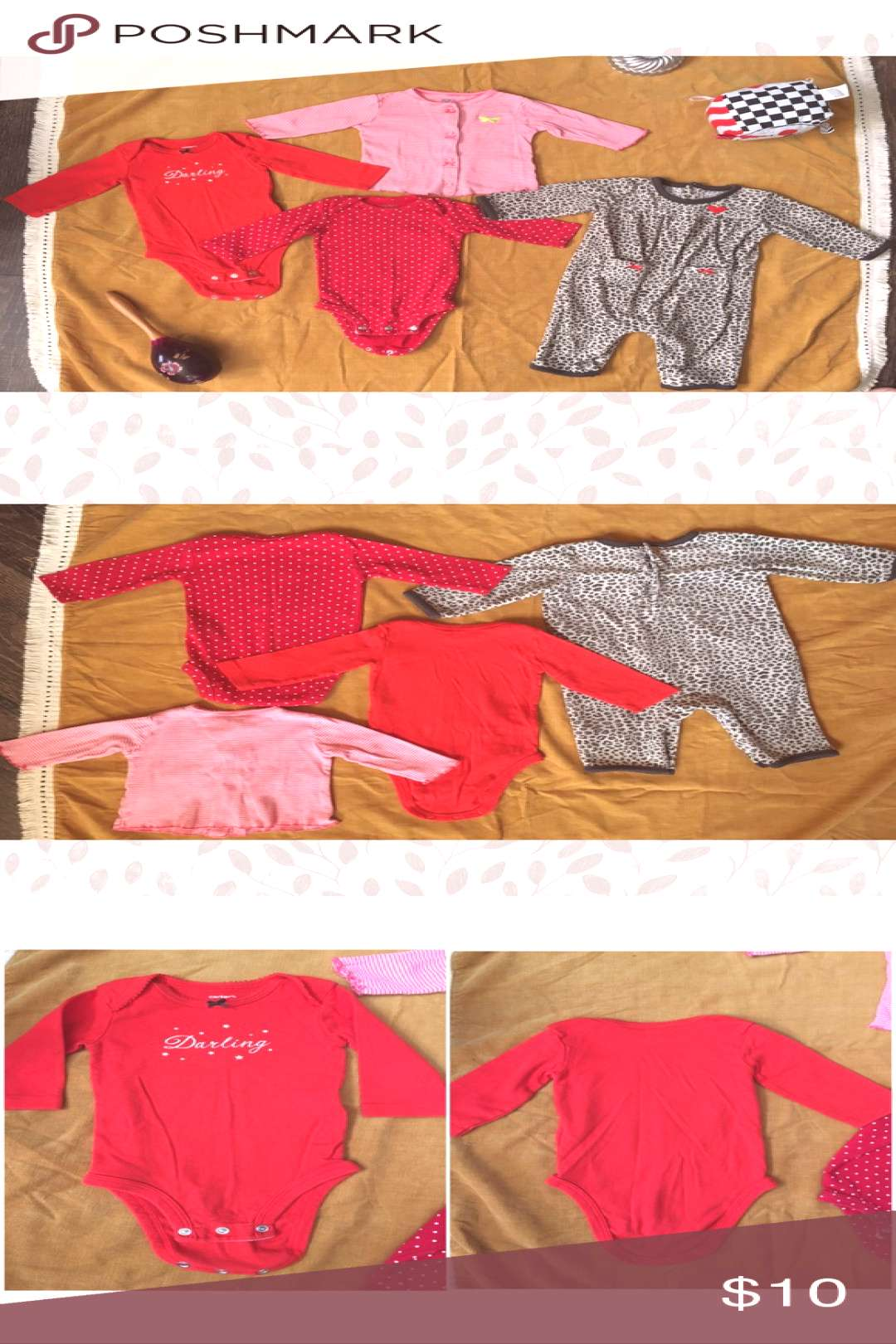 Darling leopard ?? winter autumn onesies lot A sweet lil' lot of cold we...