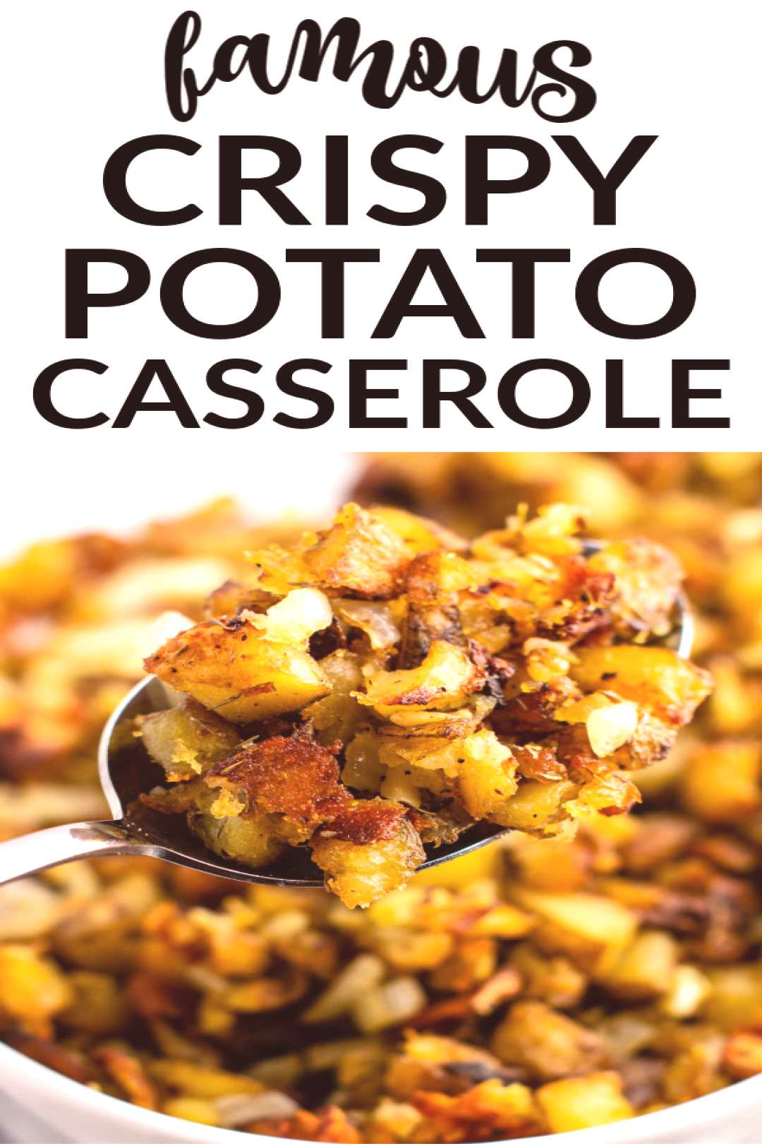 Everyone goes crazy for the best side dish ever - this super crispy potato casserole with carameliz