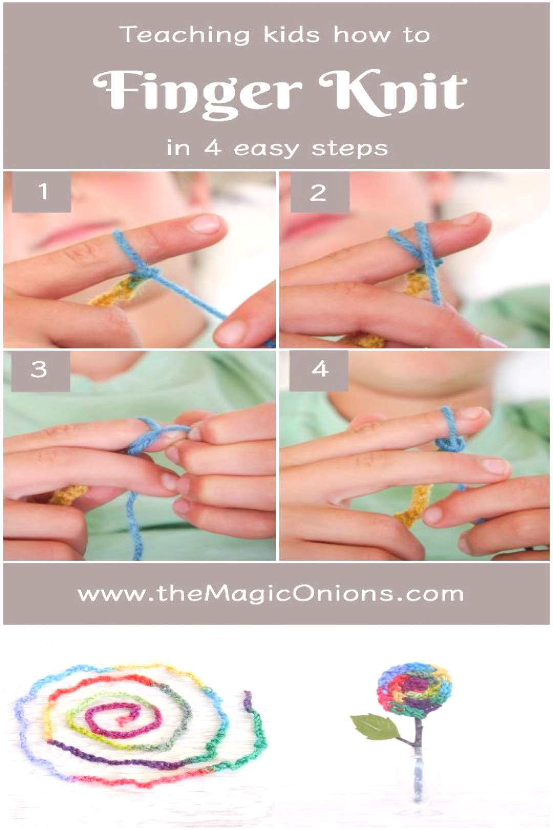 Finger Knitting For Kids An Easy DIY Tutorial - The Magic Onions - -