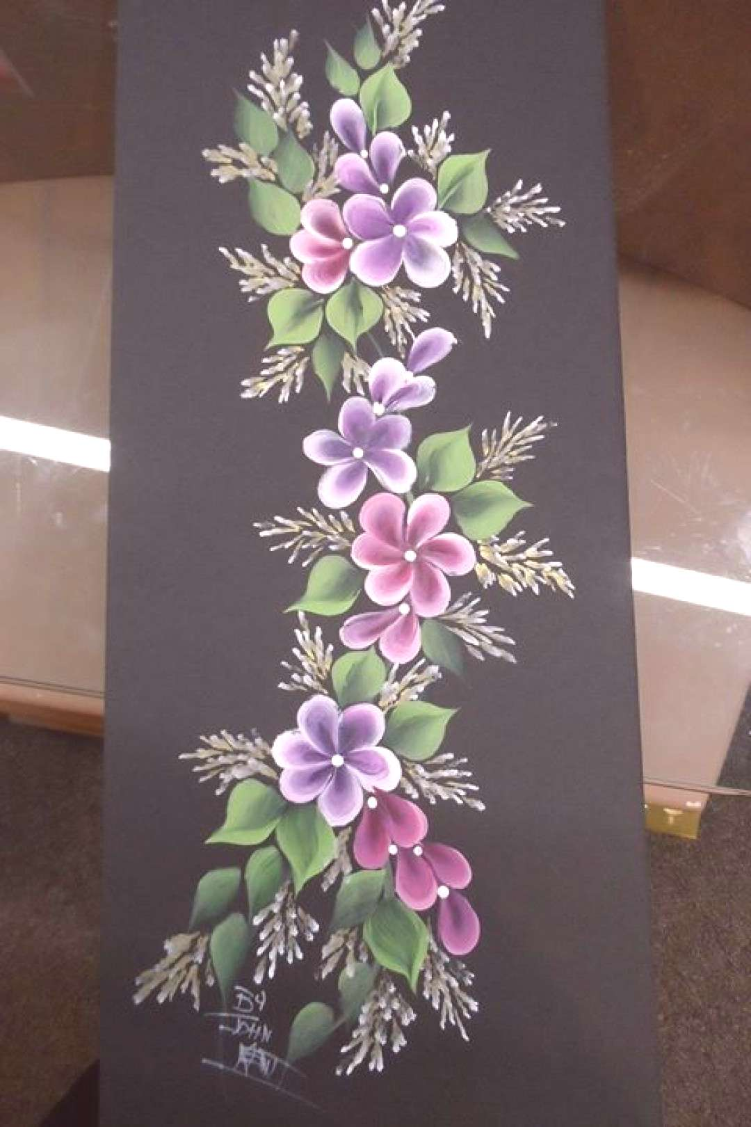 Flowers One-Stroke Painting Class