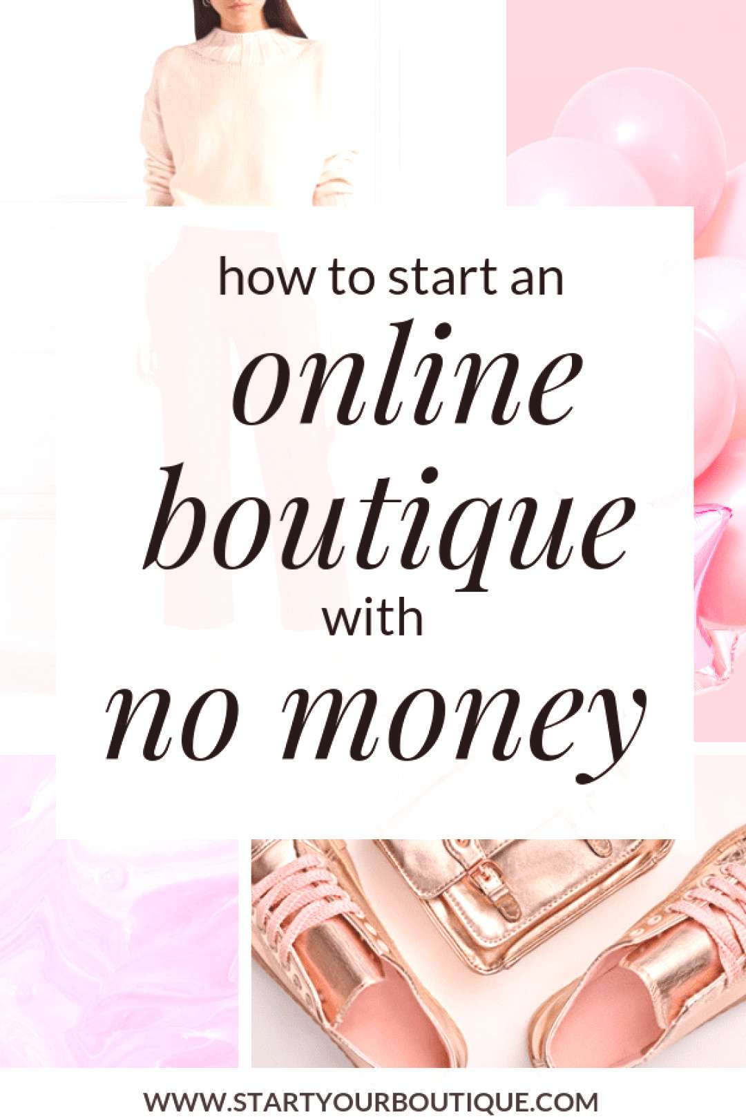 If you want to start an online boutique but have no money click through to read more about what you