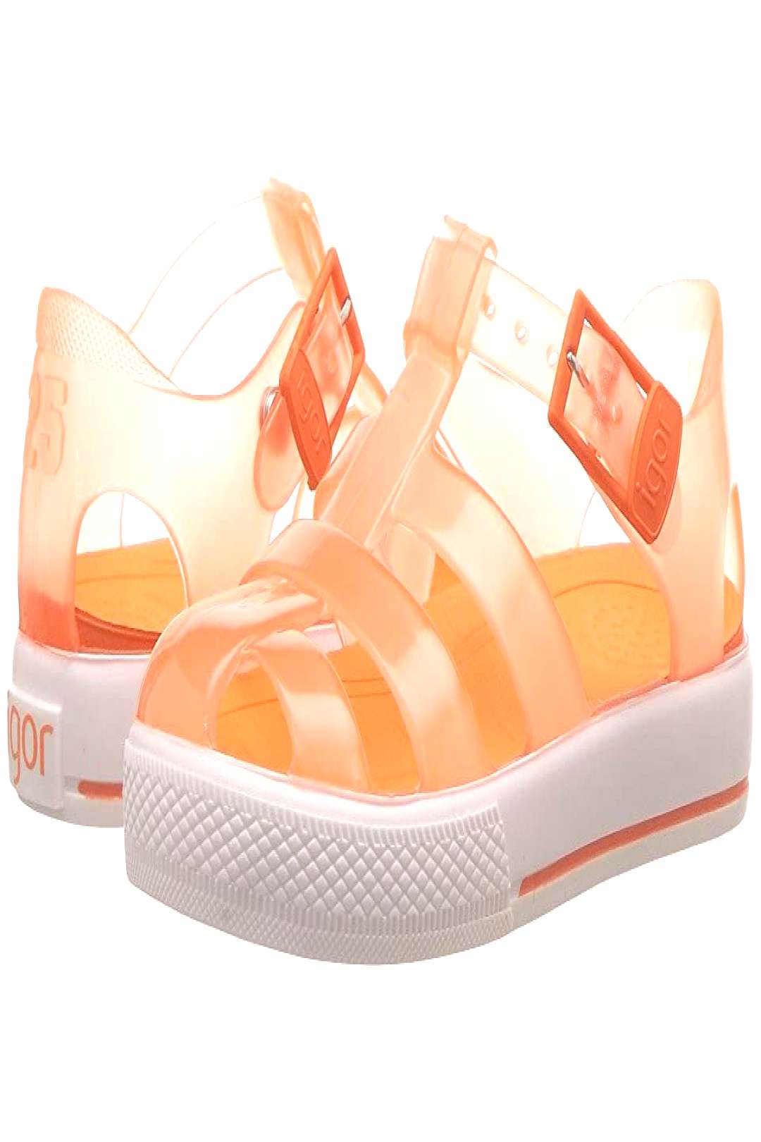 Igor Tenis (Toddler/Little Kid) (Orange) Girls Shoes. Bright and adorable Igor sandals for your li