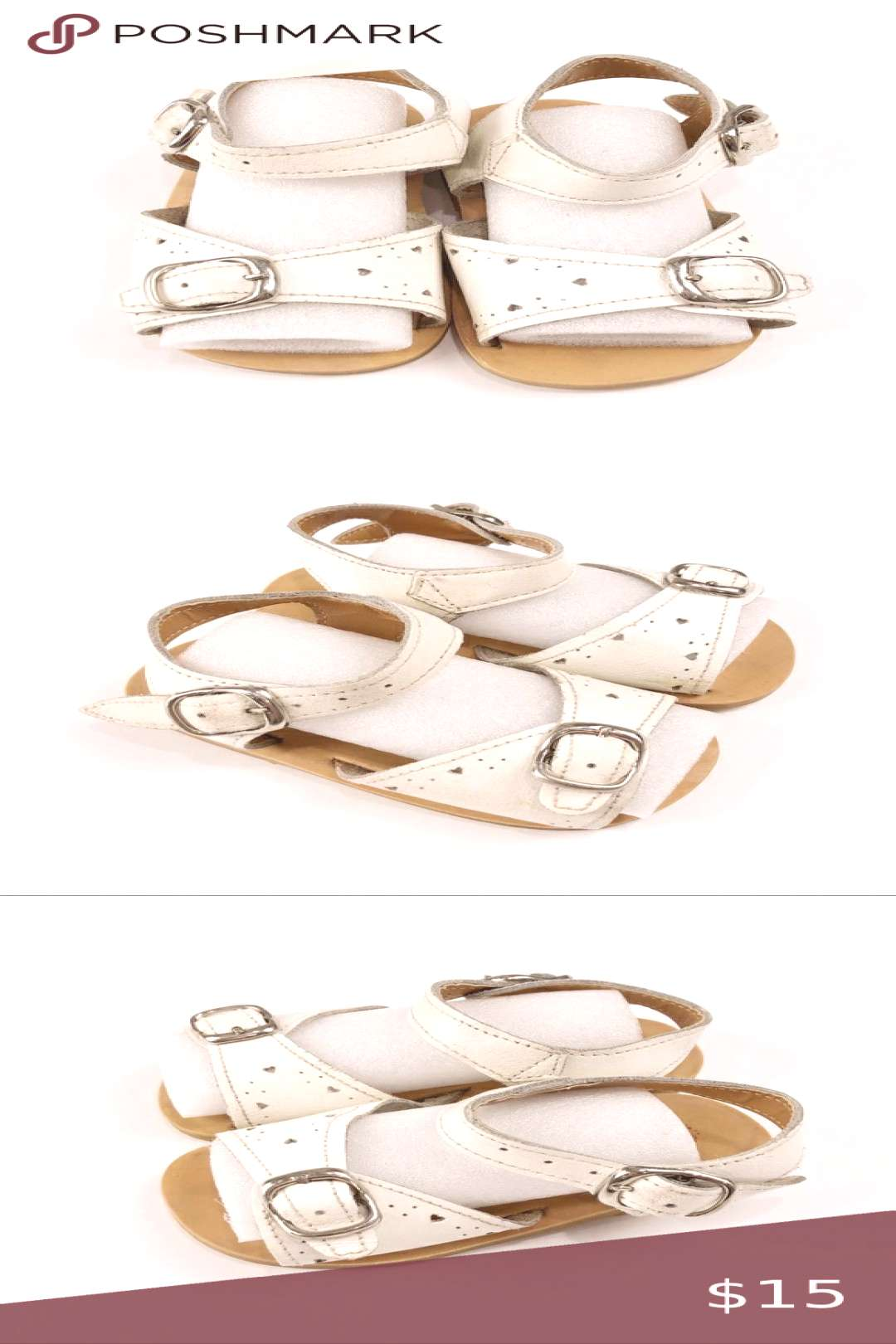 Leather Craft by Calliope White Leather Sandals This is such a cute black and white mini stripe tan