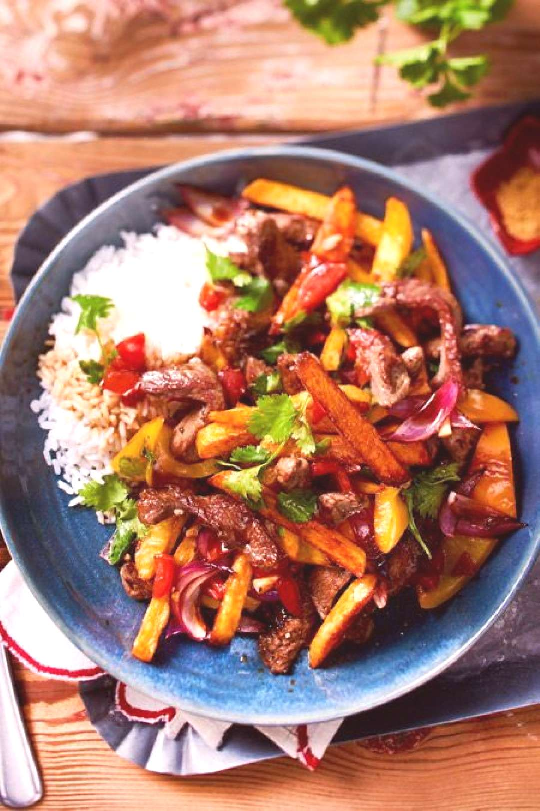 Lomo Saltado Recipe | DELICIOUS - The court out and belongs to the Peruvian-Chinese quotChifa cuisine