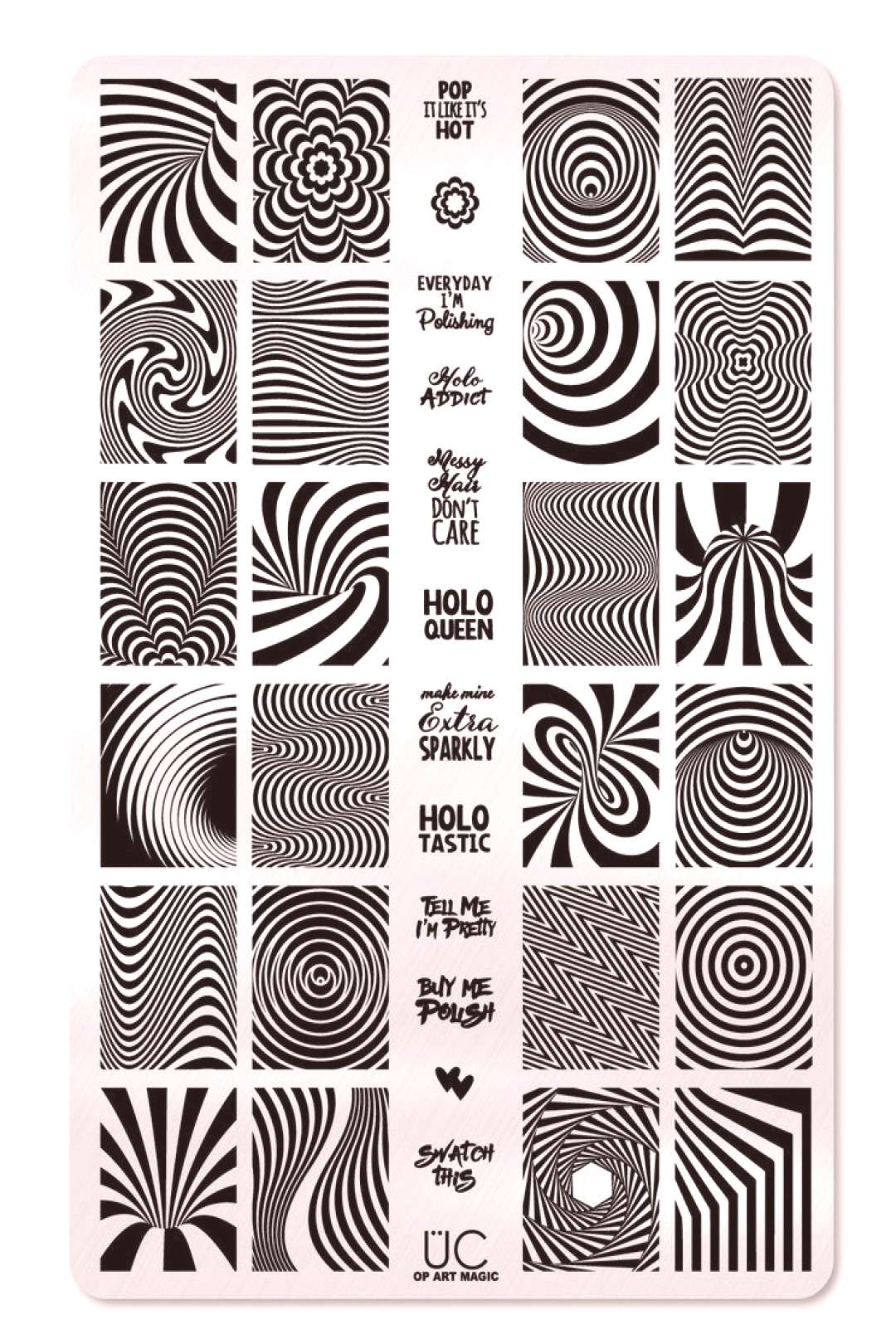 Magical Op Art and Optical Illusion Nail Stamps