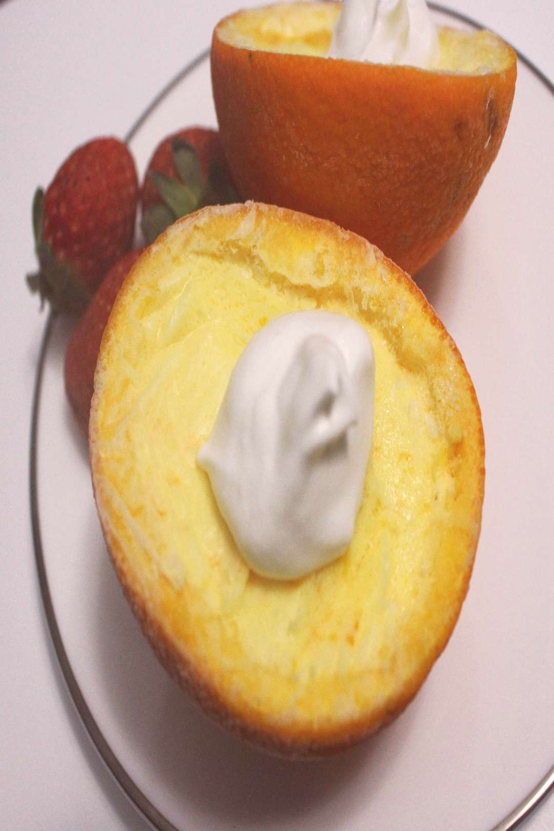 Mousse à l'Orange [Orange Mousse] This is a recipe for an absolutely delightful dessert. It is b