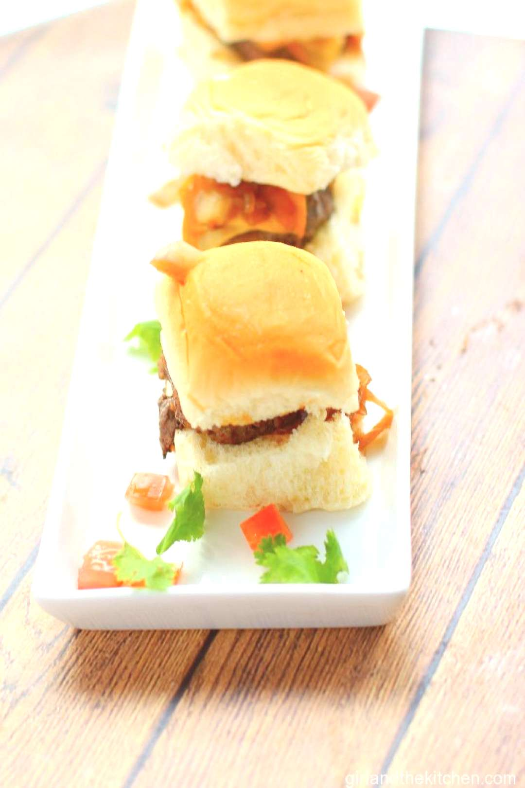 Omaha Steaks...Bison Sliders with Chipotle Aioli and Caramelized Onions - Girl and the Kitche... Om