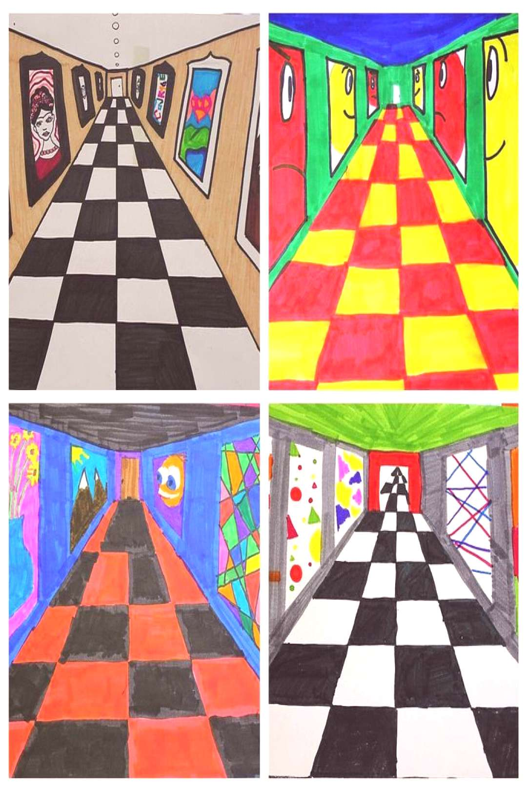 One Point Perspective Art Gallery,